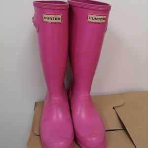 Hunter Shoes - Pink Hunter Boots